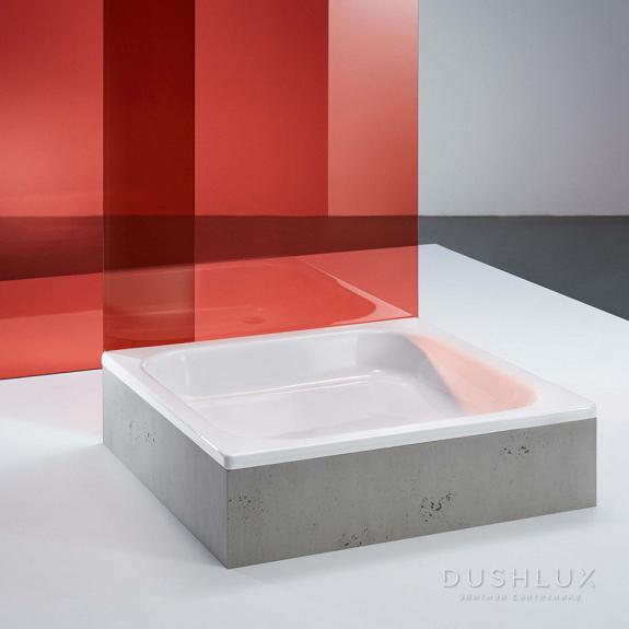 BETTELNTRA Душевой поддон 80х80х15 см, квадратный, D52 мм, цвет: белый