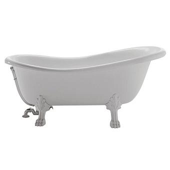 Globo Paestum Ванна 170x80 см белая, белые ножки