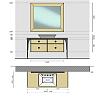 VITAGE milldue edition MAJESTIC 07 Комплект мебели 154х60хh78см., напольная, раковина, зеркало, отделка: стекло Bronzo acidato/black crom