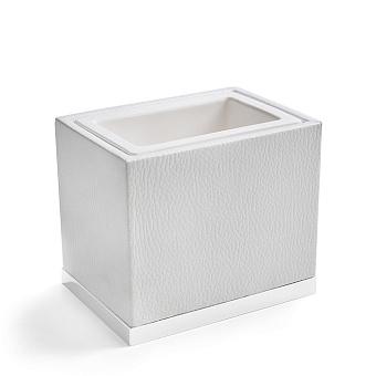 3SC Snowy Стакан настольный,  цвет: белая эко-кожа/белый матовый