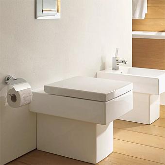 Duravit Vero Унитаз напольный для независимого подключения воды, с вертикальным смывом, 6,0л., 37x57см, Цвет: белый