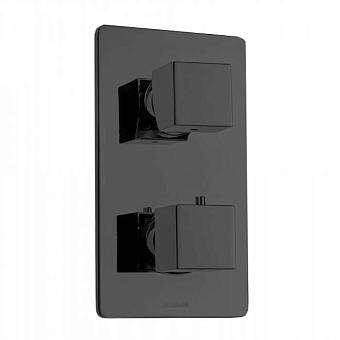 Bossini Cube Термостат для душа, встраиваемый, с девиаторм 1/2/3/4/5, цвет: черный матовый