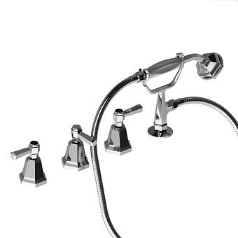 Stella Eccelsa Leve Смеситель на борт ванны на 4 отверстия 3256TR2/307, без излива, цвет: хром