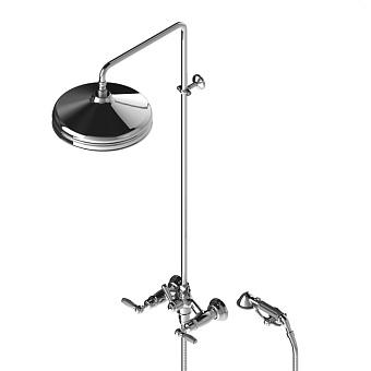 Stella Italica Leve Душевой комплект 3284/33-300: смеситель, штанга+ручной+верхний душ 300мм, цвет: хром