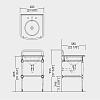 Devon&Devon Season Консоль со столешницей из мрамора серый гранит 600х580хH955 мм, металлическая структура с полочкой решеткой, цвет хром (,без раковины)