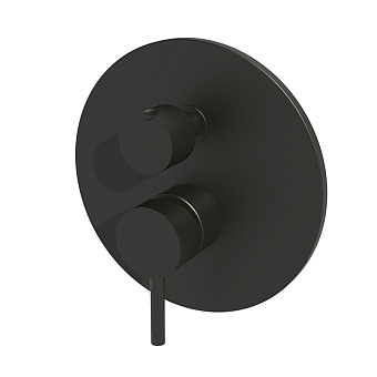 Paffoni Light Смеситель для душа, встраиваемый, с переключателем на 2 потока, 1 комбо, цвет: черный матовый