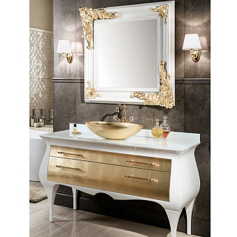 Gaia Rialto Комплект мебели 141x58x82 см, белый / золото