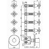 Zucchetti Agora Встроенный термостатический смеситель с 4 запорными клапанами, цвет: хром