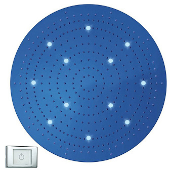 BOSSINI DREAM-XL OK Верхний душ Ø 1000 мм, с 12 LED RGB, блок питания/управления, Cromoterapia, цвет: хром