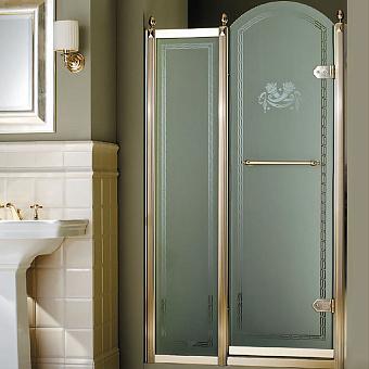 Devon&Devon Savoy Душевое ограждение K70 108-112 см, декоративные эл-ты, стекло 2S+5S, цвет: золото