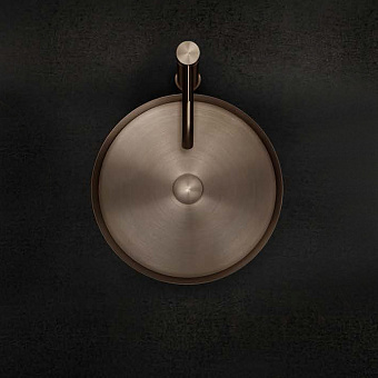 Gessi 316 Раковина 40 см, без отв., для установки на столешницу, без перелива, нержавеющая сталь, цвет: Copper brushed pvd