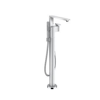 Axor Edge Смеситель для ванны, напольный, с ручным душем, излив 255мм, цвет: хром