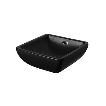 Noken Forma Раковина 40x40 см, без отв., на столешницу, с переливом, цвет: черный матовый