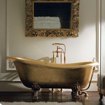 Mobili Di Castello Vasca Ванна свободностоящяя на ножках 170х80х72-64 см, золото