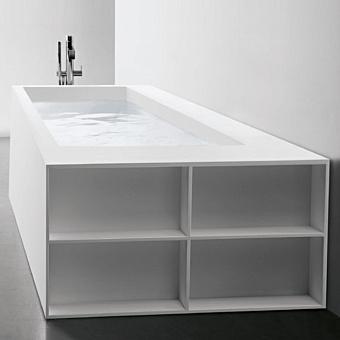 Antonio Lupi Biblio Ванна прямоугольная (2 стороны) 190х80х53.5 см в комплекте с регулируемыми ножками и нажимным донным клапаном.
