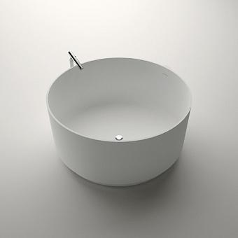 Agape In-Out Ванна отдельностоящая d130x60 см, круглая, цвет: белый/светло-серый