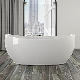 KNIEF Venice Ванна отдельностоящая 180*83,5*74,5 см с экраном, цвет: белый