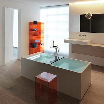 Laufen Kartell Ванна 1750x750x540мм, свободностоящая, с слив-переливом с подсветкой, сисит. подъема, материал: композит, цвет: белый