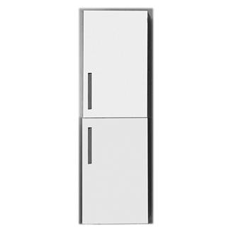 KERASAN Aquadom Шкаф-пенал подвесной, 40х38х127 см с 2 дверями, петли слева,  цвет белый структурный
