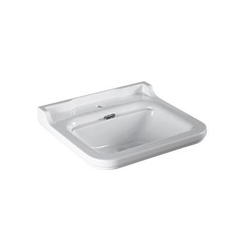 Kerasan Waldorf Раковина 60х55 см, 1 отв., керамическая, цвет: белый/хром