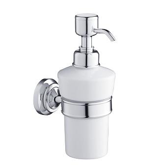 Burlington Savoy Дозатор для мыла, подвесной цвет: белый/хром