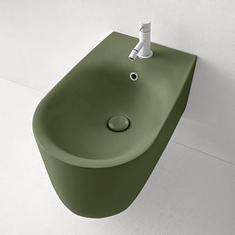 Kerasan Nolita Биде подвесное с 1 отв. под смеситель 55х35 см, с креплениями WB9N, цвет: Verde muschio