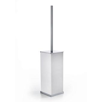 3SC Mood Deluxe White Туалетный ёршик, напольный, композит Solid Surface, цвет: белый матовый/хром