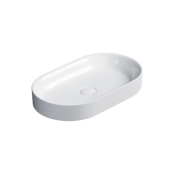 Catalano Horizon Раковина накладная 60х30хh:8.5см., без перелива, цвет: белый глянец