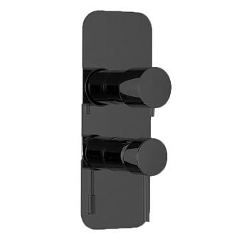 Carlo Frattini Spillo Up Смеситель для душа встроенный, с переключателем на 2/3 источника, цвет: черный матовый