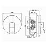 Zucchetti Soft Встроенный однорычажный смеситель для душа, с системой Zeta, цвет: хром