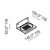 Agape Mach 2 Мыльница подвесная 14x10x6.3 см, цвет: сатин