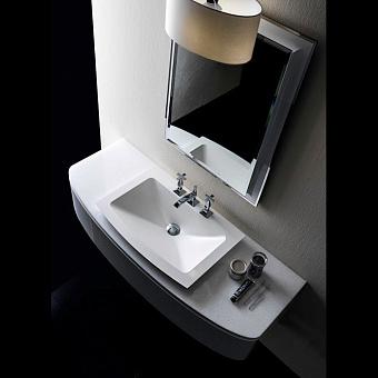 Karol Bania comp. №11, комплект подвесной мебели 140 см. цвет: Белый глянцевый фурнитура: золото