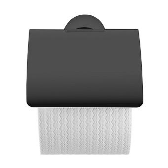 Duravit Starck T Держатель туалетной бумаги с крышкой, подвесной, цвет: черный матовый