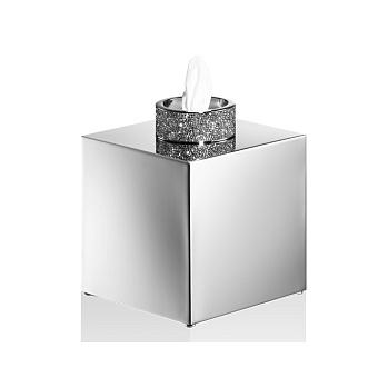 Decor Walther Rocks KB Диспенсер для салфеток 13x13x15.6см, с кристаллами Swarovski, цвет: хром