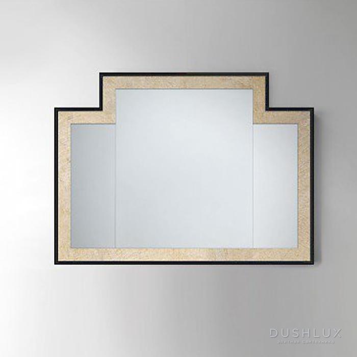 Devon&Devon Jetset 2 Зеркало 104*2*h77 см, цвет: античный алюминий с черной рамкой