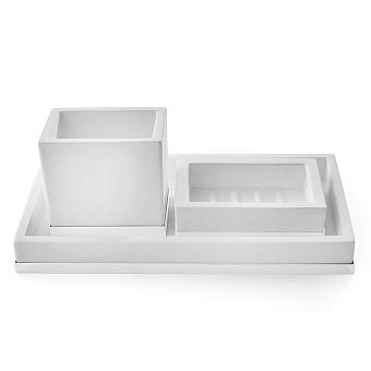 3SC Mood Deluxe Комплект: стакан, дозатор, лоток, цвет: белый матовый/белый матовый