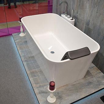 Victoria + Albert  Edge, Ванна с встр. базой без перелива, 150х80 см, quarrycast, Цвет: белый