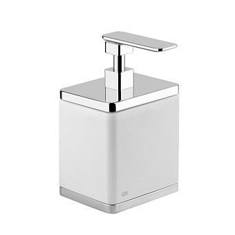 Gessi iSpa Дозатор для жидкого мыла настольный, цвет: хром/белый