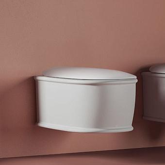 Artceram Atelier Унитаз подвесной, 52х37см, безободковый, с крепежом, цвет: белый матовый