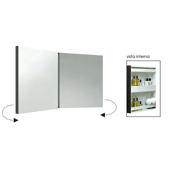 AZZURRA Зеркальный шкаф двойной 116*60h см