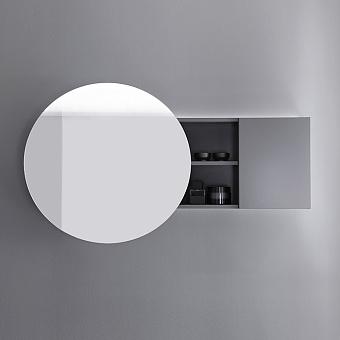 Burgbad Coco Зеркальный шкаф с подсветкой 120x70x17 см, цвет серый