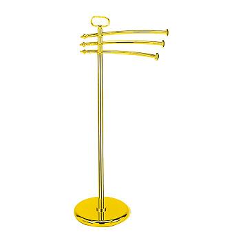 StilHaus Elite Стойка: 3 полотенцедержателя , цвет: золото