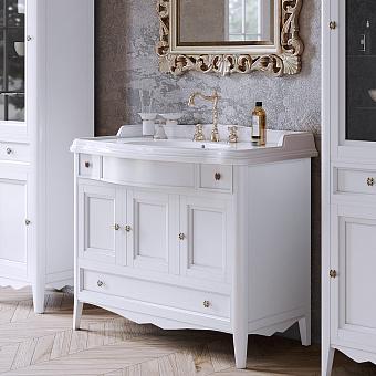 TW Veronica Nuovo комплект мебели с 3-мя выдвижными ящиками и 3-мя дверцами, с доводчиком Blum, 105см, Цвет: bianco