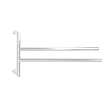 3SC Guy Полотенцедержатель двойной, поворотный, плечо 35см, цвет: белый матовый