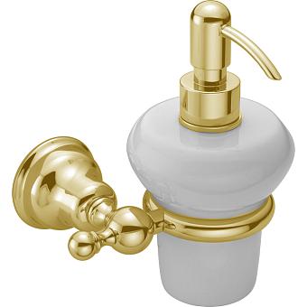 HUBER Croisette Дозатор подвесной, цвет золото/керамика