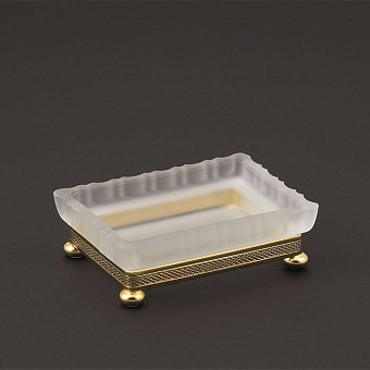 Cristal et Bronze Prestige Мыльница из матового стекла настольный, цвет: золото