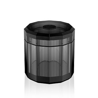 Decor Walther Kristall KB Диспенсер для салфеток 15x15см, хрустальное стекло, цвет: антрацит