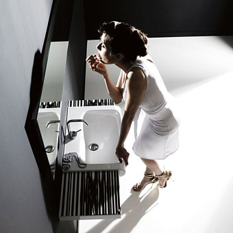 KERASAN Inka Project Раковина INKA 40x40x35.5 см, без отв., цвет: белый