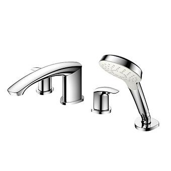 TOTO GM Смеситель для ванны на 4 отв. 475x270x226мм с ручным душем, цвет хром
