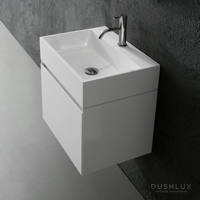 Antonio Lupi Gesto Комплект подвесной мебели 54х40хh37.5см, с раковиной, с 1 ящиком, цвет: белый goffrato